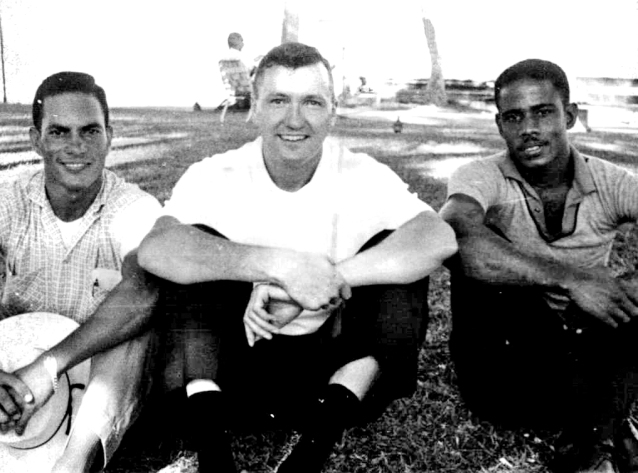 "Left to right: Rodolfo ""Sea Fury"" Hernandez, Harold ""Hal"" Feeney and Nestor ""Tony"" Izquierdo, 1962"