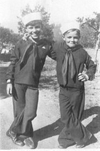 Tony Poshepny (right) with his brother