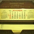 JFK's Desk Calendar and Memo Pad, November 1963
