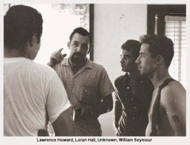 L-R: Lawrence Howard, Loran Hall, unknown, William Seymour