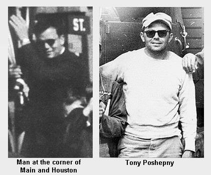 Tony Poshepny and Unidentified Man in Dealey Plaza