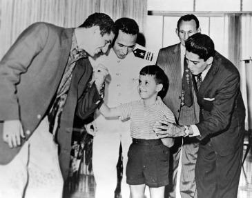 Felipe Vidal Santiago (second from left, in uniform)