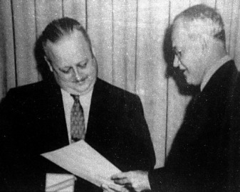 William Harvey (left) with Allen Dulles