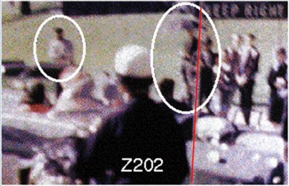 """""""Dark Complected Man"""" and """"Umbrella Man"""" in Dealey Plaza"""