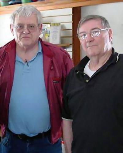 Ed Kolby (left) and Howard K Davis