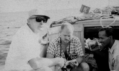 L-R: Dennis Harber, Tom Dunkin, Unknown