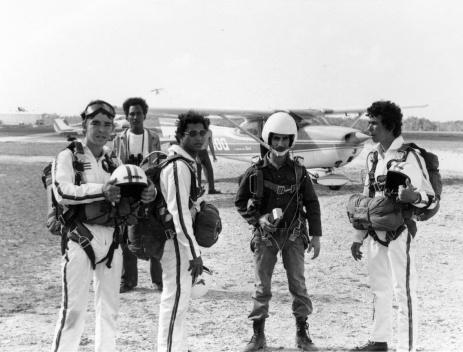"""Front L-R: Salvador Gonzalez, Edward Barnes, Francisco """"Papito"""" Hernandez, Rene Corvo"""