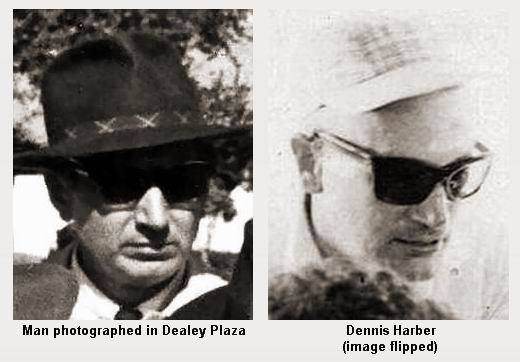 Unidentified man in Dealey Plaza and Dennis Harber