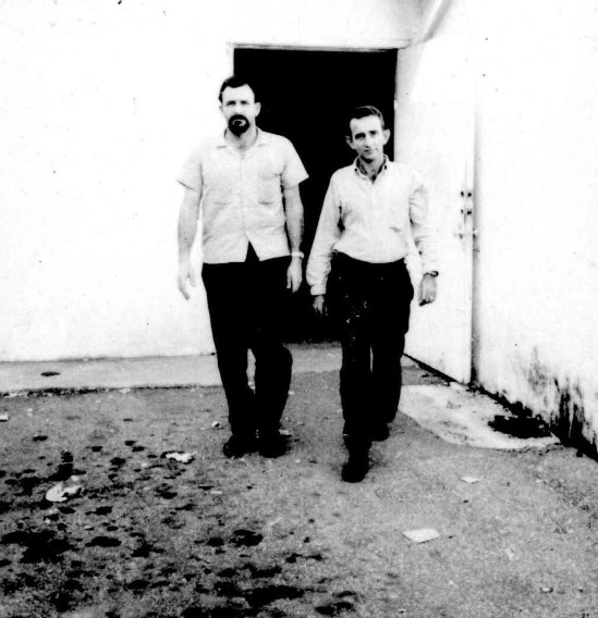 Loran Hall (left) and Manuel Aguilar