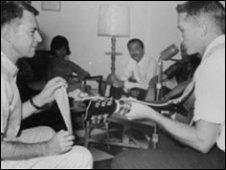 Maj Gen Edward Lansdale and Lt Hershel Gober, 1965