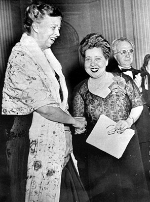 Minerva Bernardino (right) with Eleanor Roosevelt