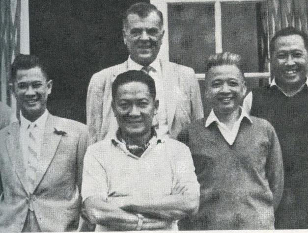 Lucien Conein (rear, center)