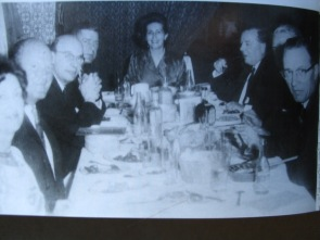 David Atlee Phillips (right) at a dinner for Win Scott's wife