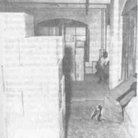 CE485 - James Jarman, Bonnie Ray Williams and Harold Norman showing their alleged positions on the fifth floor of the TSBD as the motorcade passed