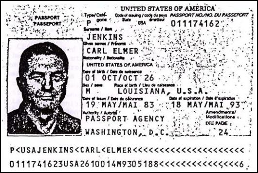 Carl Elmer Jenkins' Passport