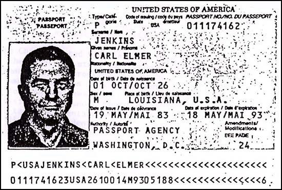 Carl Jenkins' Passport