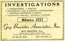 Guy Banister Ad 1959