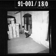 CE486 – Bonnie Ray Williams and Harold Norman showing their alleged positions on the fifth floor as the motorcade passed