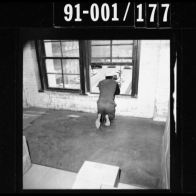 CE494 – Jarman showing his alleged position on the fifth floor as the motorcade passed