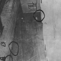 """CE510 - 6th floor """"sniper's nest""""; A is a live round, B and C are shell casings"""