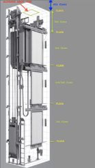 Passenger Elevator Shaft Diagram; Credit John Armstrong