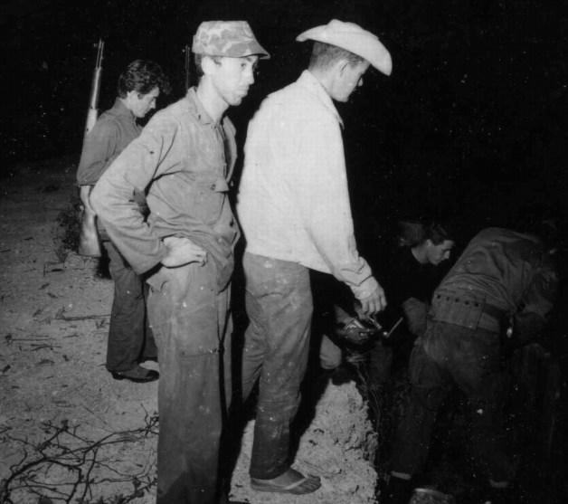 Ronald Ponce de Leon, Oscar del Pino, unknown (cowboy hat), Steve Wilson (black shirt)