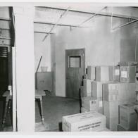 Second floor view of entrance to offices and lunch room